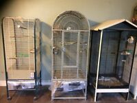 Cages for sale (lovebirds/cockatiel/parrots/finches/canaries/budgies