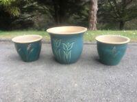Garden Pots x3
