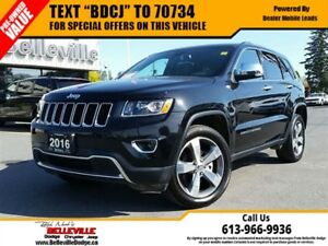 2016 Jeep Grand Cherokee Limited-Sunroof-Power Liftgate-Remote S