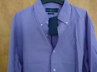 Brand New Ralph Lauren Purple Long Sleeved Shirt Size M