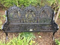 6. Large cast iron garden bench (patio furniture heavy quality)