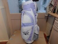 BRAND-NEW, LYNX, CART / CARRY BAG, WHITE / LAVENDER in colour