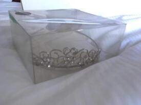 Silver and diamanté wedding tiara