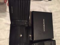 Genuine Emporio Armani Wallet w/ Certificate of Authentication. Unused. Still Boxed.