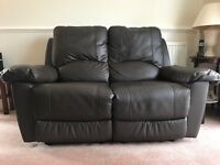Brown 2 seat reclining sofa (two if wanted)