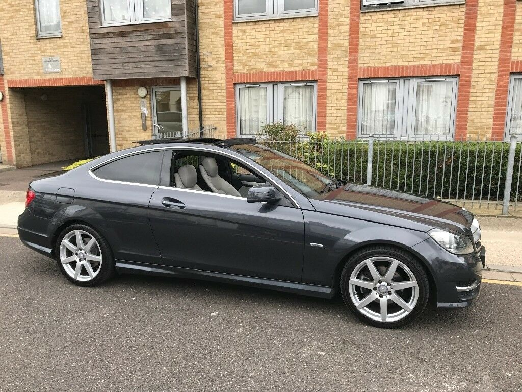 2012 mercedes benz c class coupe 53k grey pan sunroof in barking london gumtree. Black Bedroom Furniture Sets. Home Design Ideas