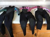 Children's girls winter wetsuits age 4-5, 5-6 and 7