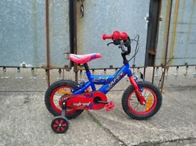 """Kid's 12""""wheel Huffy Patriot with stabilisers"""