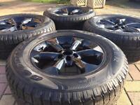"""Genuine 17"""" Nissan Navara D40 Refurbished Black Alloy wheels & Goodyear Tyres"""