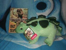 Dinosaur video game and plush