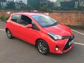 "TOYOTA,YARIS,ICON,VVT-I,1.3ccPETROL,2014,5DR,6SP MANUAL,RED,""LOW MILEAGE"""