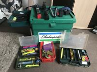 Shakespeare Match Fishing Seat Box with Octoplus Kit And Tackle Included Loads of Bits