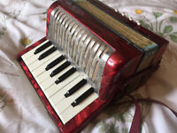 Vintage Red Hohner Mignoni Accordion No Case SALE