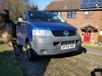 VW Transporter minibus/camper with Captains seats, Bluetooth MP3 player, roof bars and awning rail++