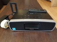 iHOME iP90 DUAL ALARM CLOCK RADIO AM/FM PRESETS & DOCK FOR iPOD AND iPHONE