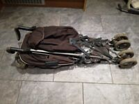 Silver cross brown stroller