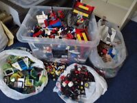 Lego bargain box containing an assortment of pieces