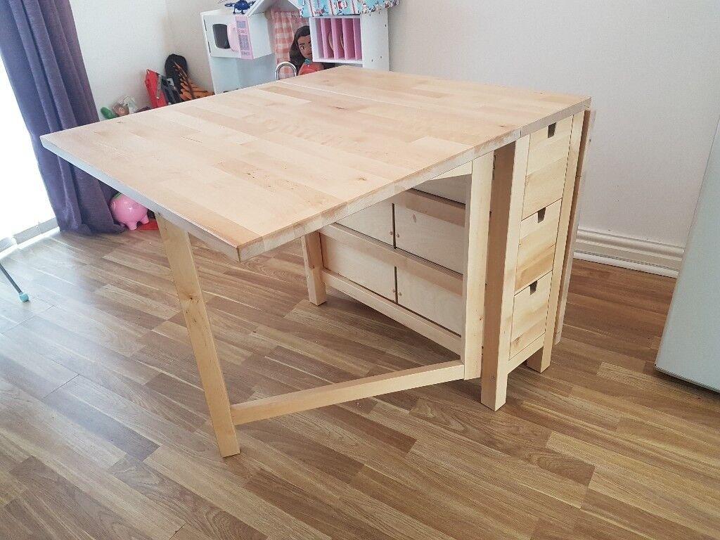Ikea Folding Dining Room Table Nearly New