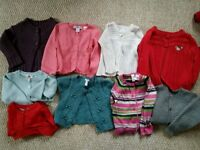 Girls size 2 years jumpers and cardigans