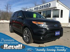 2015 Ford Explorer XLT 4WD  *Sport Appearance   Moon  Leather Na