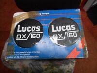 lucas fog/driving lights 1980's new