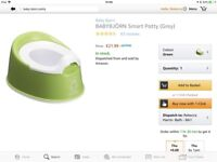 Baby Bjorn smart potty, toilet trainer seat and spare potty