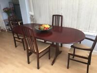 Large extending dining table & chairs - perfect for Easter!!