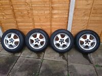 "Alloy wheels 15"" 5x100 6,5J ET 40 with tyres"