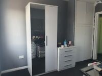 2x full wardrobe set £150 each set with cabinets