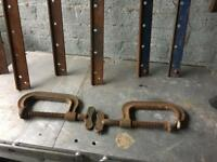 pair of vintage made in england G clamps £10