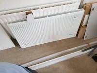 Radiator 1100 by 600 with 15mm valves