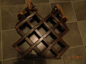Wooden wine rack- ethnic/ African style