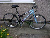 Raleigh Volatile Ladies Mountain Bike, good condition medium alloy frame.