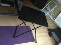 Habitat Airo Metal Folding Table - Black