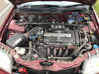 breaking honda civic b18c4 s9b mc2 mb6 aerodeck modified dc2