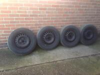 "Vw t5 Transporter 16"" Steel Wheels & bridgestone tyres 215/65/r16c"