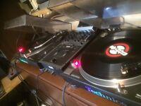 2x Technics 1210 MK2 - 1x Rane TTM56 mixer plus loads of extras