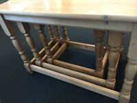 Nest of 3 Tables - Solid Wood
