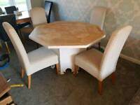 Solid barker & Storehouse oak table and chairs
