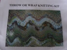 THROW OR WRAP KNITTING KIT
