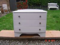 Retro / Shabby Chic Chest of Three Drawers Large Mirror Avaliable if Requried. Can Deliver