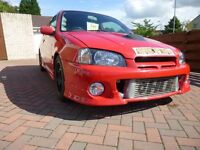 Toyota Starlet Glanza V Turbo EP91, Low Mileage. Fantastic Condition.