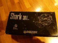 Grauvell Shark 30L Multiplier Levelwind Lever Drag deep sea fishing reel