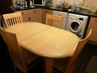 Nice dining Table & 4 chairs (delivery available)