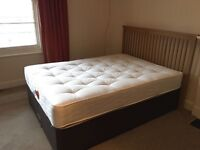 DOUBLE DIVAN BED WITH HEADBOARD-Only 6 months old