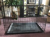 Puppy / dog crate with two doors