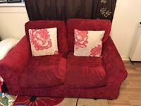 Red two seater couch
