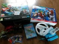 Wii U mario Kart 8 premium pack, marvel infinity heroes etc