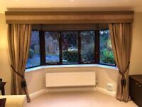 Designer luxury interlined curtains and tiebacks