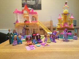 Sofia the first Magical Castle, Sea Castle and various playsets and figures.